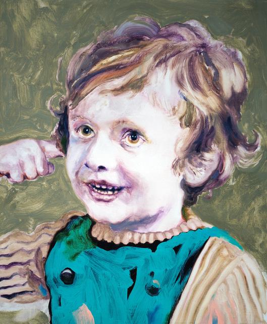 , 'Ludovic Chemarin enfant sur fond vert,' 2018, mfc - michèle didier