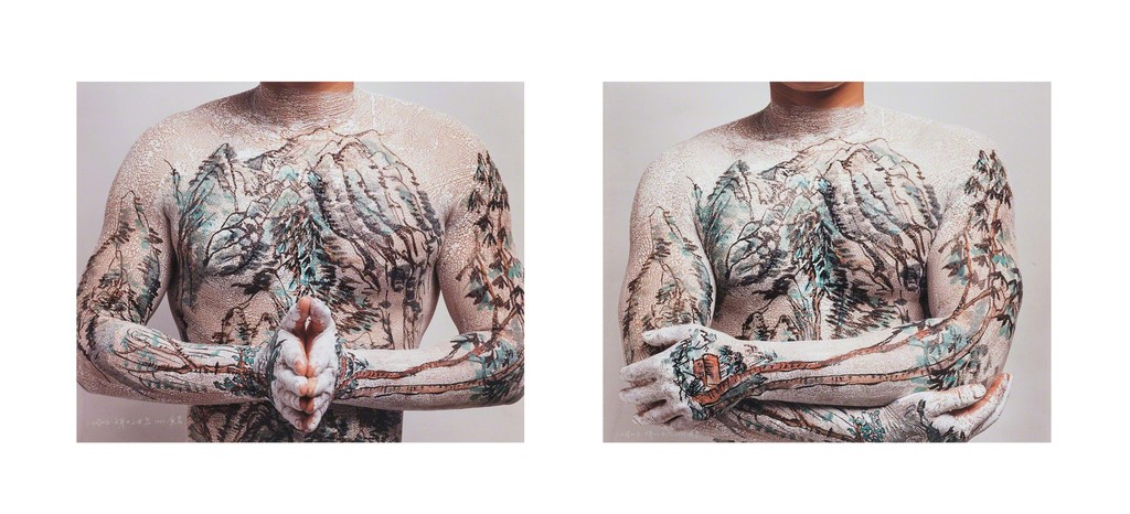 Chinese Landscape Tattoo No. 4 and Chinese Landscape Tattoo No. 9 (two works)