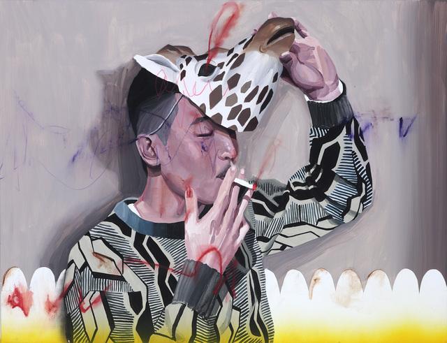 , 'Wearing a Giraffe Mask To Smoke,' 2015, Yiri Arts