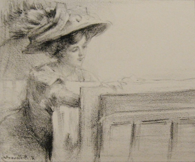 , 'Woman Looking at Prints,' 1900, Paramour Fine Arts