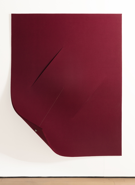 , 'Work On Felt (Variation 18) Burgundy,' 2017, Paul Kasmin Gallery