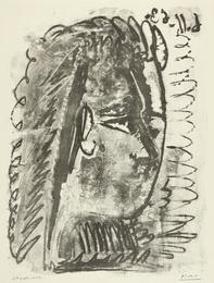 Profil de femme regardant à droite (M. 391)
