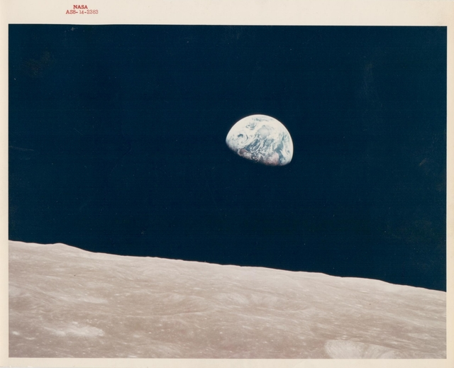 , 'Earthrise, the first ever witnessed by human eyes, Apollo 8, December 1968,' , Attollo Art