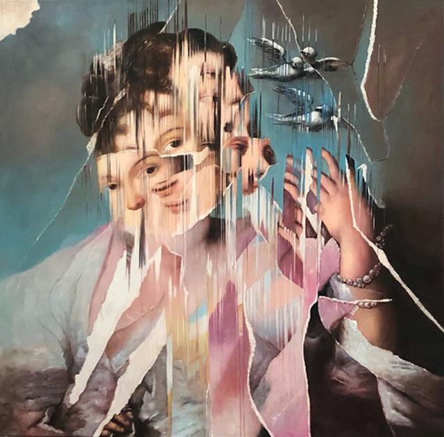 """, 'Ejercicio de Distorsión sobre """"The Air"""" de Rosalba Carrera,' 2018, MAIA Contemporary"""