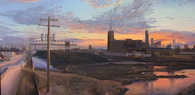 , 'Coal Yard, South Branch Chicago River,' 2018, Gallery Victor Armendariz