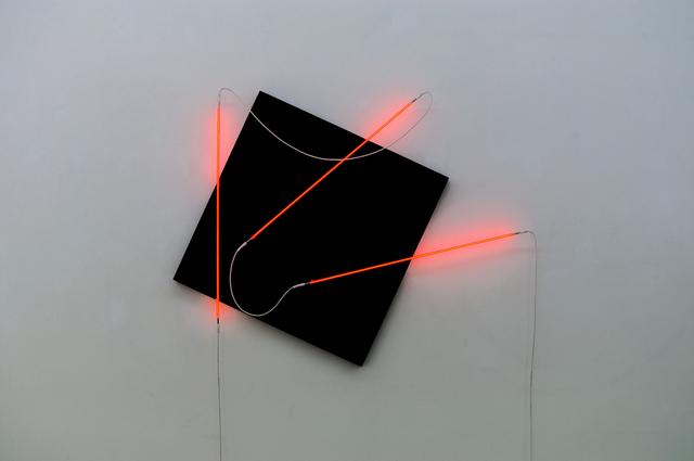 , 'Néons 3D : 15°-90°-40°,' 2015, Galerie Nikolaus Ruzicska