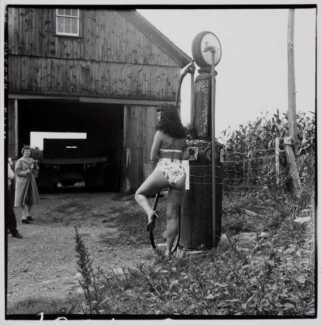 , 'Bettie Page (with gas pump),' ca. 1955/1980s, Corbett vs. Dempsey