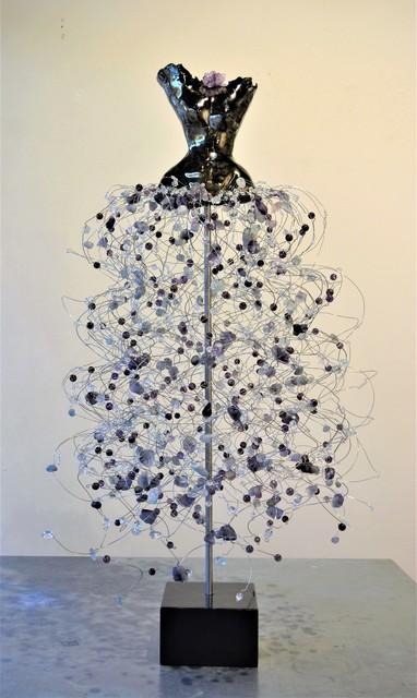 Estella Fransbergen, 'High Fired Clay Torso, Fluoride, Phantom Purple Quartz, Swarovski Crystal', 2019, Shain Gallery