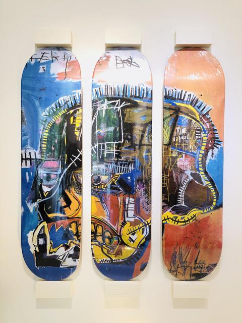 Jean-Michel Basquiat, 'Skateboard Triptych Skull', 2014, Gin Huang Gallery