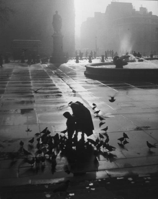 , 'London, Trafalgar Square, (Mother and Son w/ Birds),' 1951, Peter Fetterman Gallery