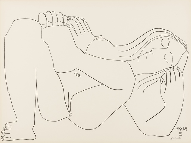 Pablo Picasso, 'Femme Nue, nos. 11.8.69, nos. I & VI', 1969, Forum Auctions