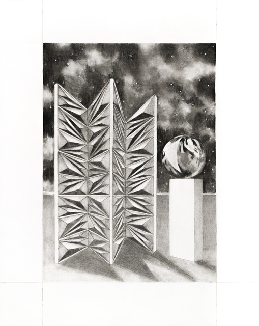 Audrey Matt Aubert, 'Pare-étincelles', 2020, Drawing, Collage or other Work on Paper, Graphite on paper, Isabelle Gounod