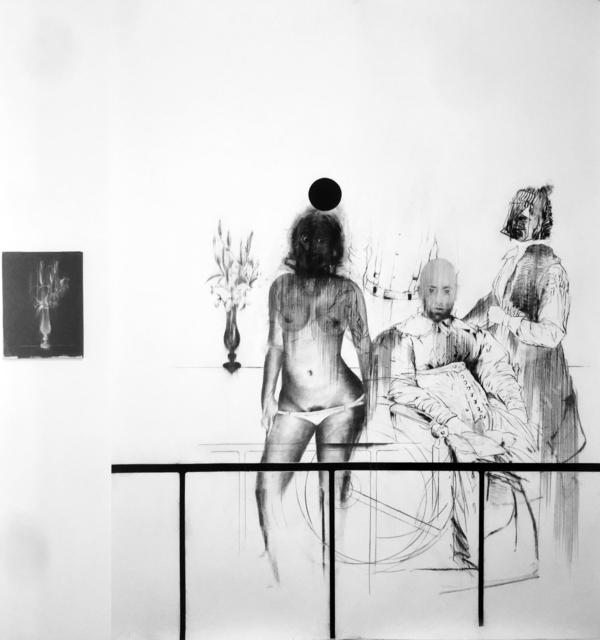 , 'Tableau Vivant V (G.G., Mademoiselle de Volanges, La femme auvent et le bouquet noir),' 2017, MLF | MARIE-LAURE FLEISCH