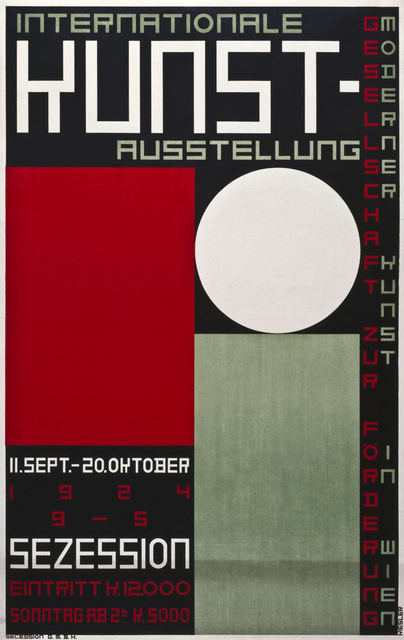, 'International Art Exhibition. Society for the Promotion of Modern Art in Vienna, Secession, Vienna, 11 September – 20 October 1924,' , MAK – Austrian Museum of Applied Arts / Contemporary Art