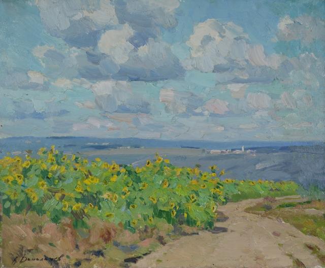 Aleksandr Timofeevich Danilichev, 'Sunflowers in Biojova', 1987, Surikov Foundation
