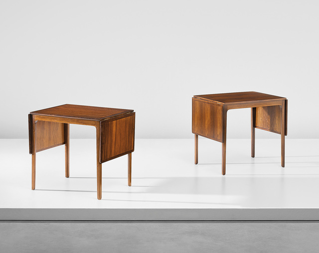 Ole Wanscher, 'Pair of drop-leaf side tables, designed for the library of the Danish Institute of Science and Art, Rome', Phillips