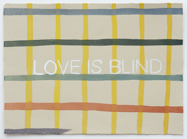 Julia Kuhl, 'Domestic Textiles Series, Love Is Blind', 2019, Drawing, Collage or other Work on Paper, Watercolor on paper, FROSCH&CO