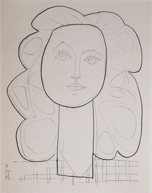 Pablo Picasso, 'Francoise, 1949 Limited edition Lithogrph by Pablo Picasso', 1949, White Cross
