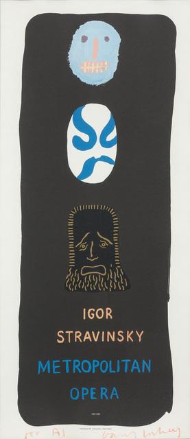 David Hockney, 'IGOR STRAVINSKY, METROPOLITAN OPERA (B. 104)', 1981, Doyle