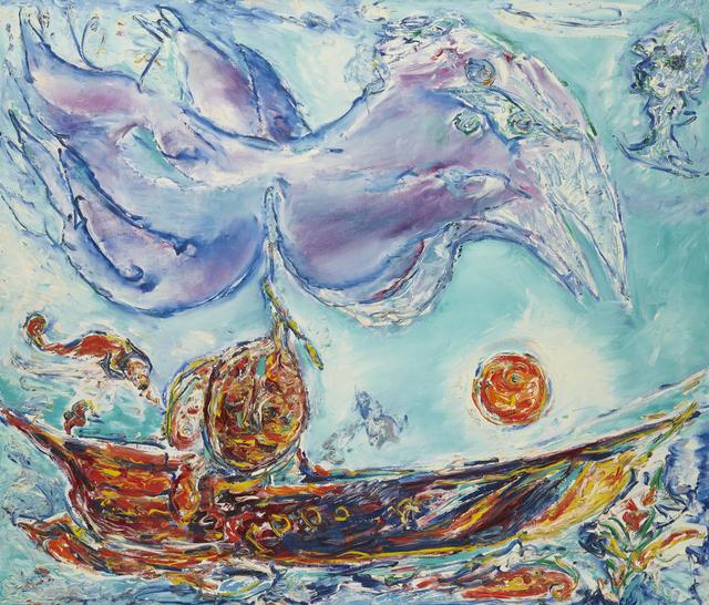 , 'Violet Fugl over Solbåd,' 1979, DIE GALERIE