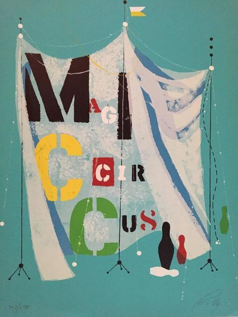 Wolfgang Roth, 'Rare Wolfgang Roth Dada Bauhaus Circus Silkscreen Print 2', 20th Century, Lions Gallery