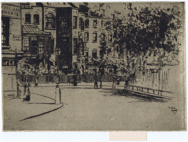 , 'THE CORNER OF CHEYNE WALK, CHELSEA,' 1888-1889, Gerrish Fine Art