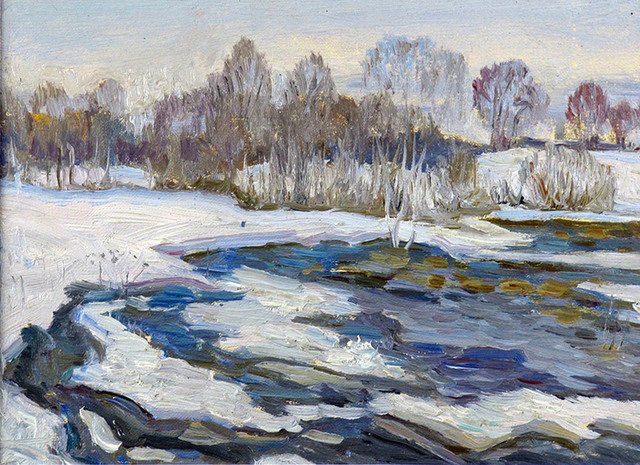 German Alexeevich Tatarinov, 'Gray Winter Haze #88', ca. 1990, Janus Galleries