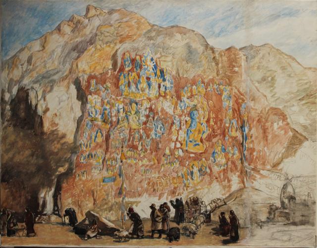 Pei Zhuangxin, 'Medicine Buddha Temple 藥王⼭', 1989, W.Ming Art