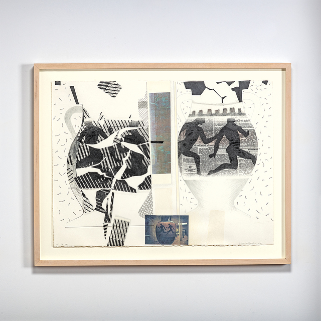 Katherine Westphal, 'At the Met', 1993, Drawing, Collage or other Work on Paper, Heat transfer, photo copy, collage drawing, browngrotta arts