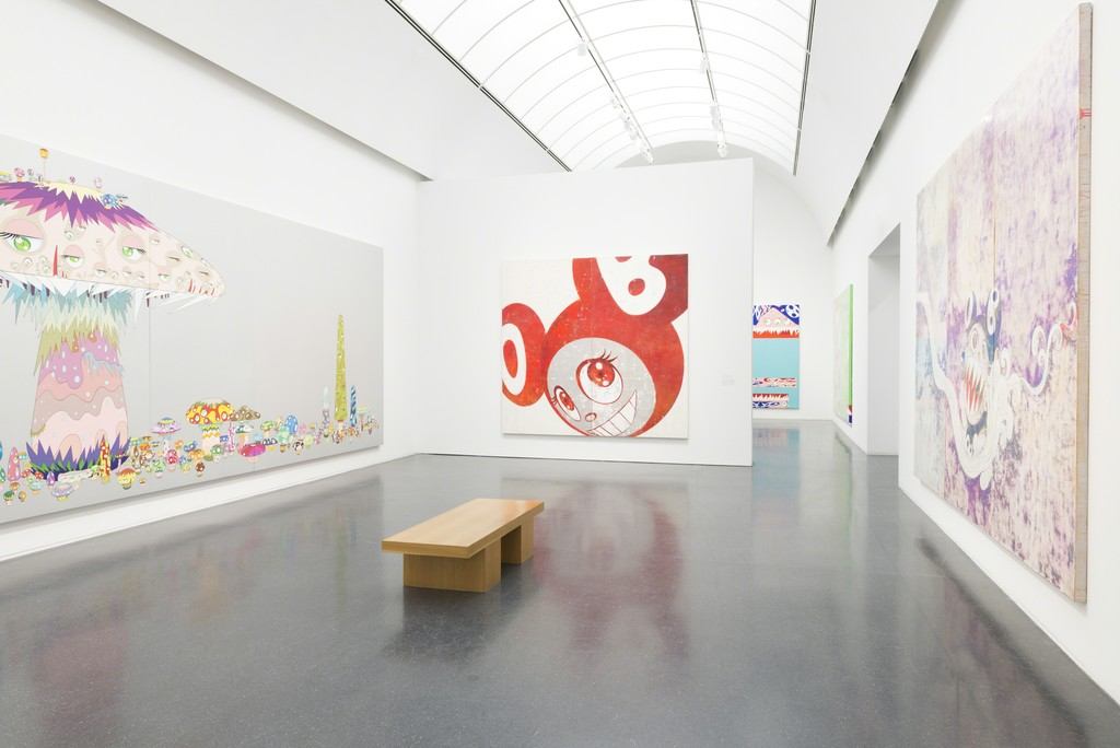 Installation view, Takashi Murakami: The Octopus Eats its Own Leg, MCA Chicago, June 6 – September 24, 2017. Photo: Nathan Keay, © MCA Chicago.