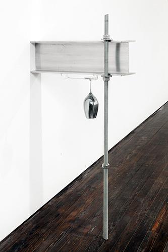 Jeff Williams, '#13', 2013, Sculpture, Aluminum, steel, gallium, wine glass, Lora Reynolds Gallery