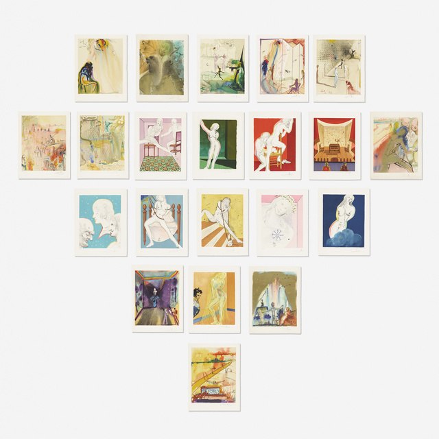Salvador Dalí, 'The Marquis de Sade portfolio', 1969, Books and Portfolios, Twenty two lithographs in colors, Rago/Wright