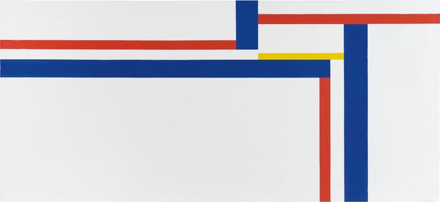 , 'White Horizontal with Blue, Red, and Yellow,' 1973, Vallarino Fine Art