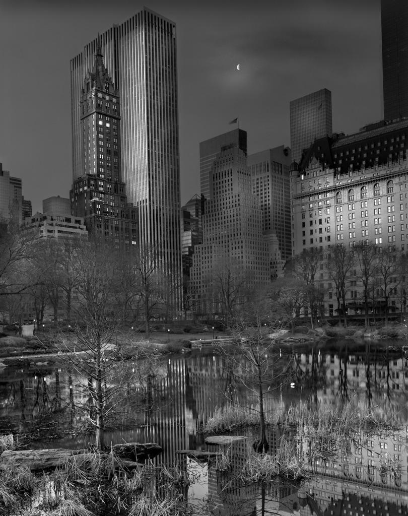 Moonrise NYC 5am
