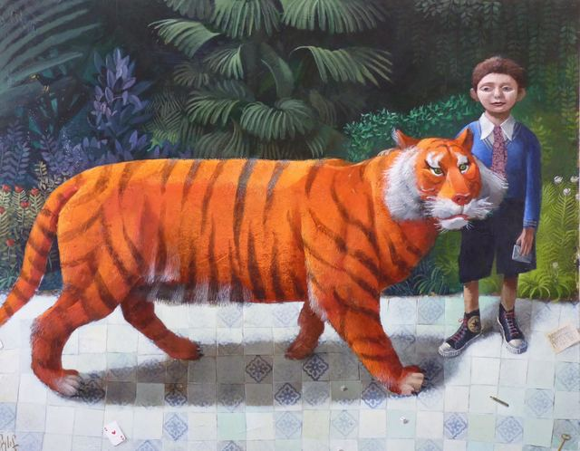 , 'Jonathan and the Tiger,' 2016, Rebecca Hossack Art Gallery