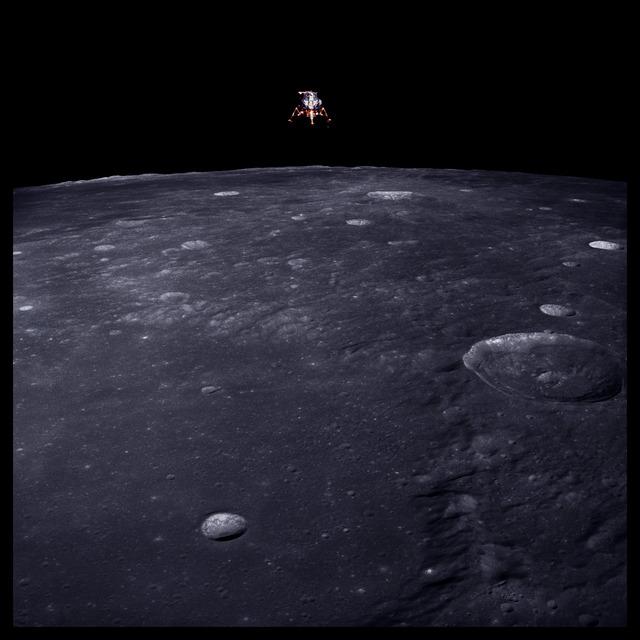 , '043 Lunar Module Intrepid Prepares for Descent, 69 Miles Altitude; Photographed by Richard Gordon, Apollo 12, November 14-24, 1969,' 1999, Danziger Gallery