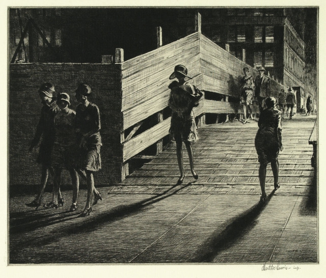 , 'Fifth Avenue Bridge.,' 1928, The Old Print Shop, Inc.