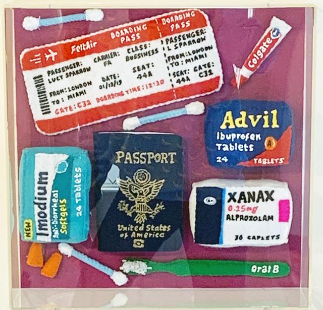Lucy Sparrow, 'Come Fly With Me', 2019, Sculpture, Feutre, acrylique et fil Encadré de Perspex / Felt, Acrylic, and Thread Framed in Perspex, Galerie de Bellefeuille