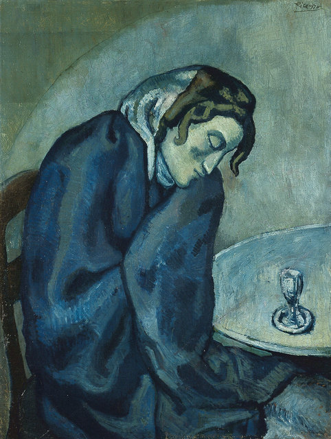 Pablo Picasso, 'Buveuse assoupie (Sleeping Drinker)', 1902, Painting, Oil on canvas, Kunstmuseum Bern