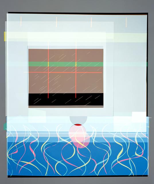 , 'Self-titled Adaptation of Peter getting out of Nick's Pool (after David Hockney, 1966) Version II,' 2018, Galerie Nikolaus Ruzicska