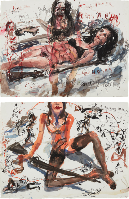 Brad Kahlhamer, 'Two works: (i-ii) Urban Prarie Girls', (i) 2005-(ii) 2004, Phillips