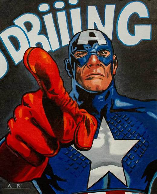 , 'Captain America Ring Twice,' 2019, Catto Gallery