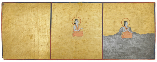 , 'Three aspects of the Absolute, page 1 from a manuscript of the Nath Charit,' 1823, Asian Art Museum