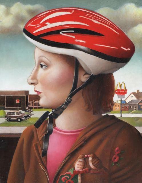 , 'Woman in Bike Helmet,' , Front Room Gallery