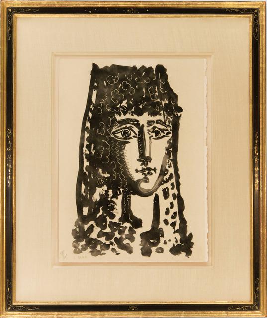 """Pablo Picasso, 'Femme a la Mantille- Carmen, from """"Le Carmen des Carmen""""', 1949, Print, Aquatint, Dawson Cole Fine Art"""