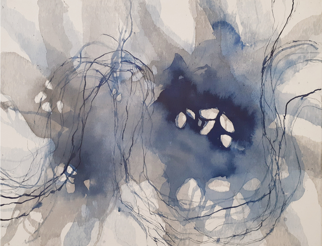 Natacha Di Nucci, 'Untitled I - Series 'Traces'', 2020, Painting, Tusche auf Leinwand / ink on canvas, ARTBOX.GALLERY