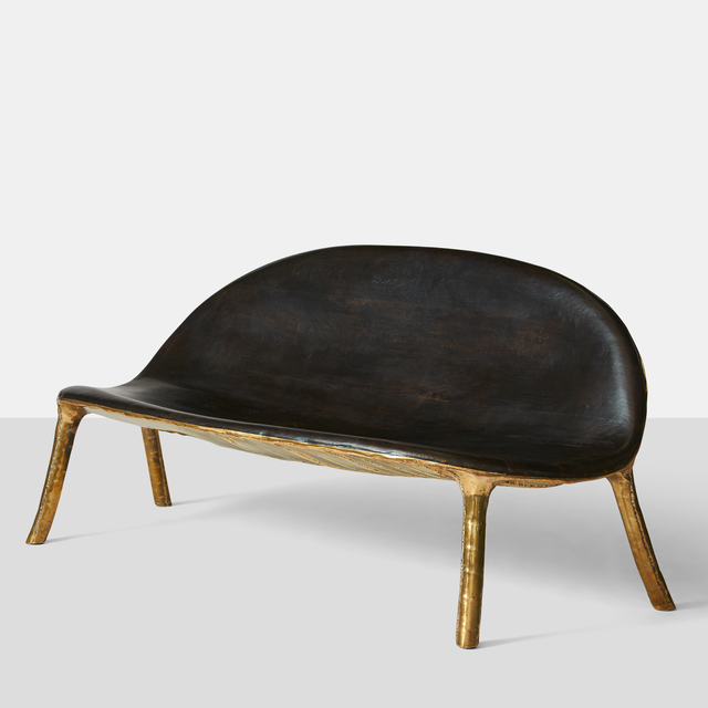 , 'Charred oak & brass sofa,' 2015, Almond & Co.
