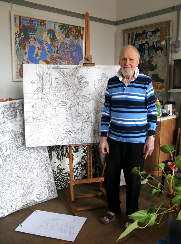 Norman Gilbert's studio