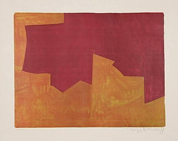 , 'Composition lie-de-vin et orange,' 1963, Galerie Philippe David