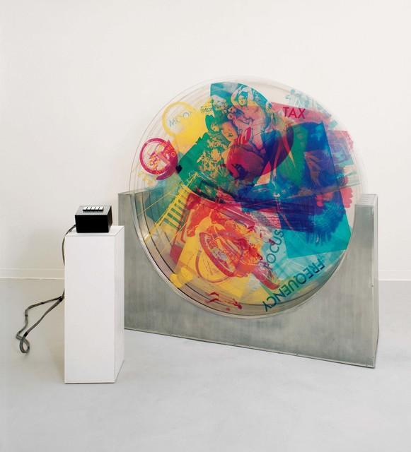Robert Rauschenberg, 'Revolver II', 1967, Silkscreen ink on five rotating Plexiglas discs in metal base with electric motors and control box, Robert Rauschenberg Foundation